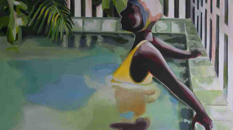 NZ Art Show BLONG Tanya Havana Pools 1 acrylic