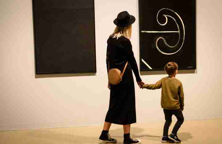 Colin McCahon at City Gallery Wellington parent and child