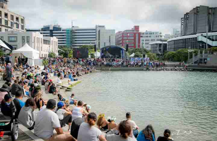 Pasifika Pacific Festival Wellington waterfront crowd lagoon