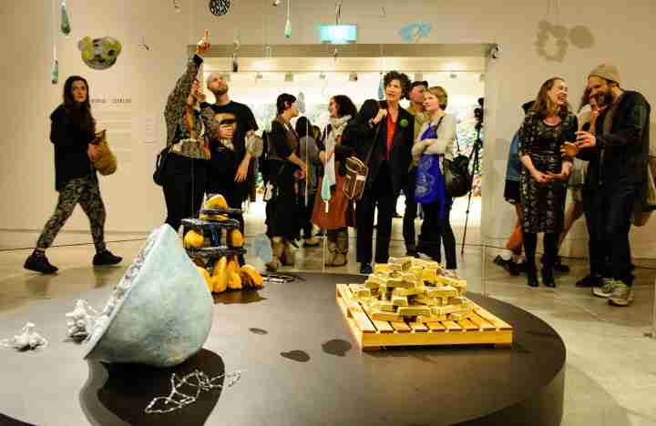 Gallery visitors at The Dowse Art Museum