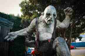 Orc statue at Weta Workshop