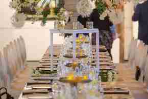 BE Academy Galleries table setting flowers candles