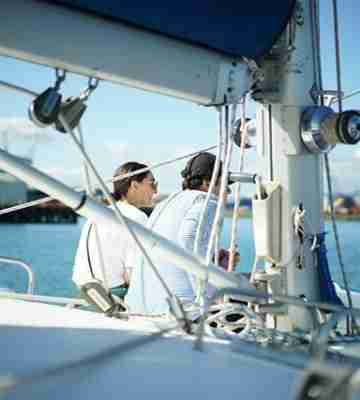 BE Megisti Sailing Charters people on board
