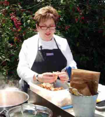BE Ruth Perry lunch cooking garden