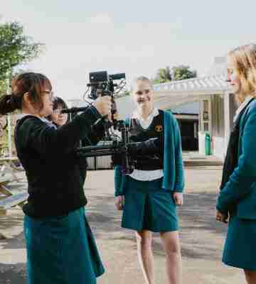 S students wellington college camera filming