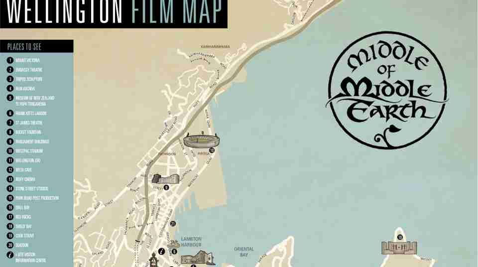 Wellington Film Map