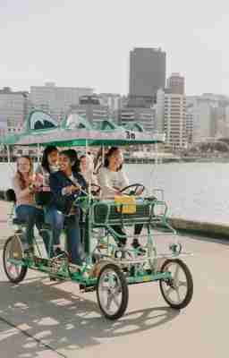 Students on Croc Bikes