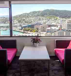 Business corporate Volapra Office space blue wellington view harbour window v2