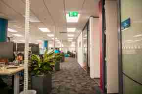Business corporate Volpara Office space blue wellington view harbour window11