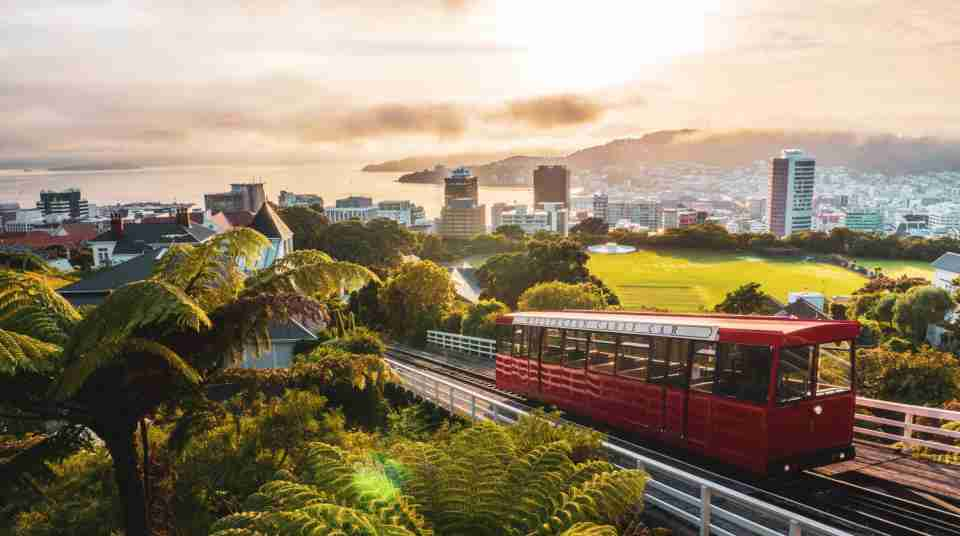 Wellington Cable Car at sunrise 2021 v2