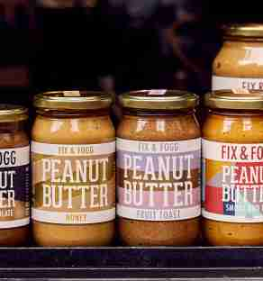 Fix & Fogg peanut butter on front counter